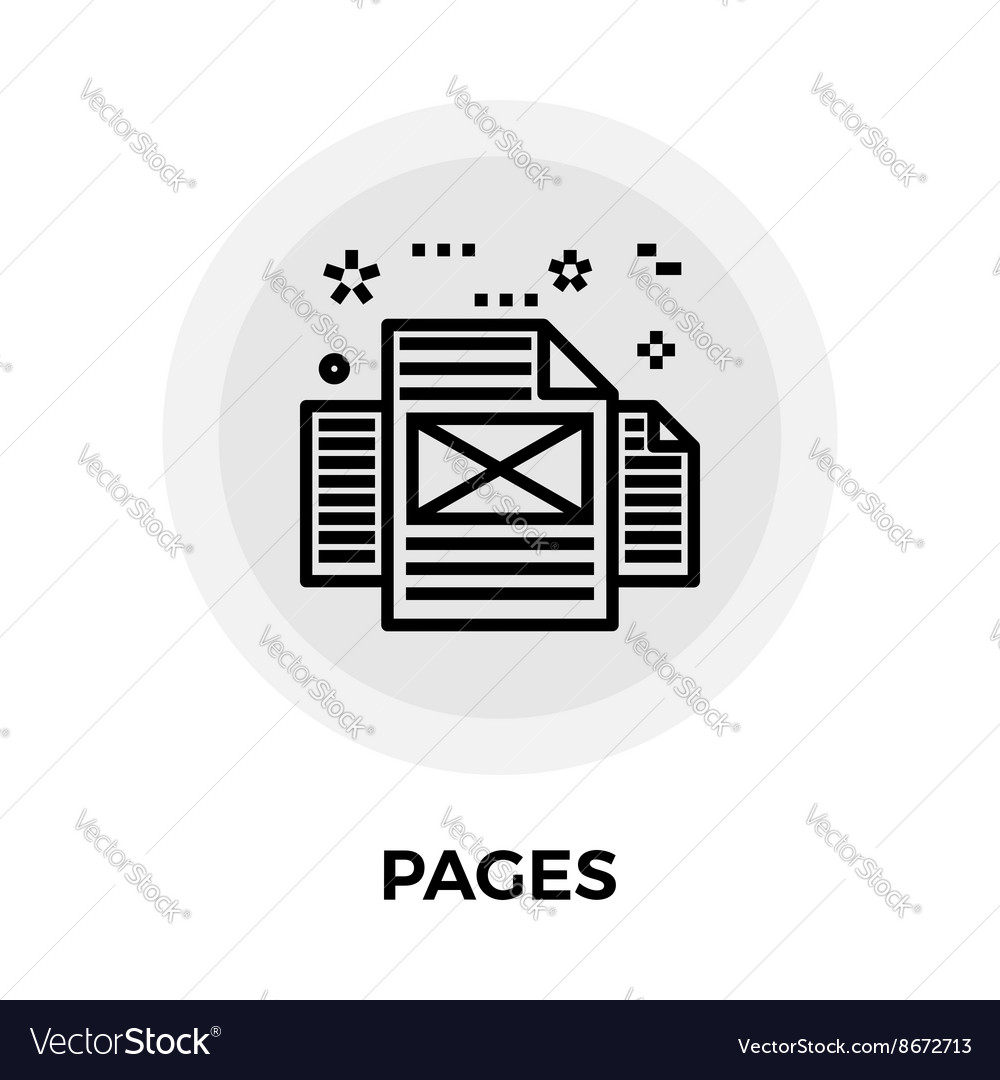 Pages Line Icon