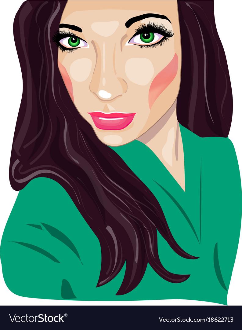 Portrait girl pop art