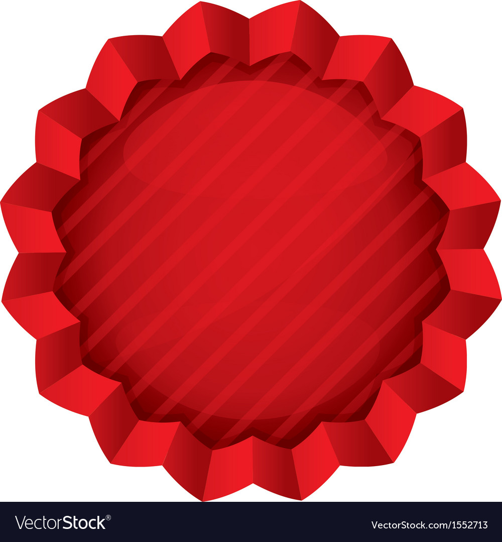 price tag template red round star sticker vector image