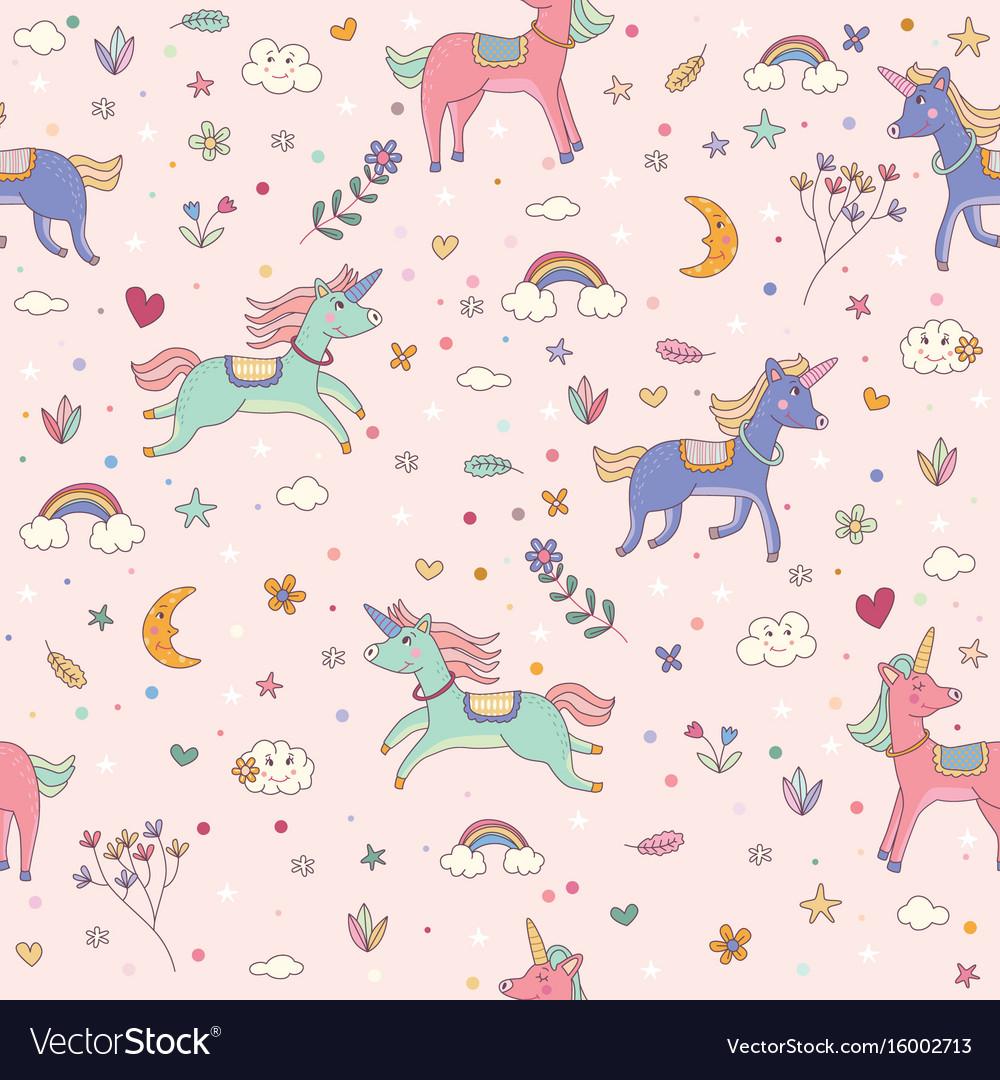 pattern children wallpaper Vector Image
