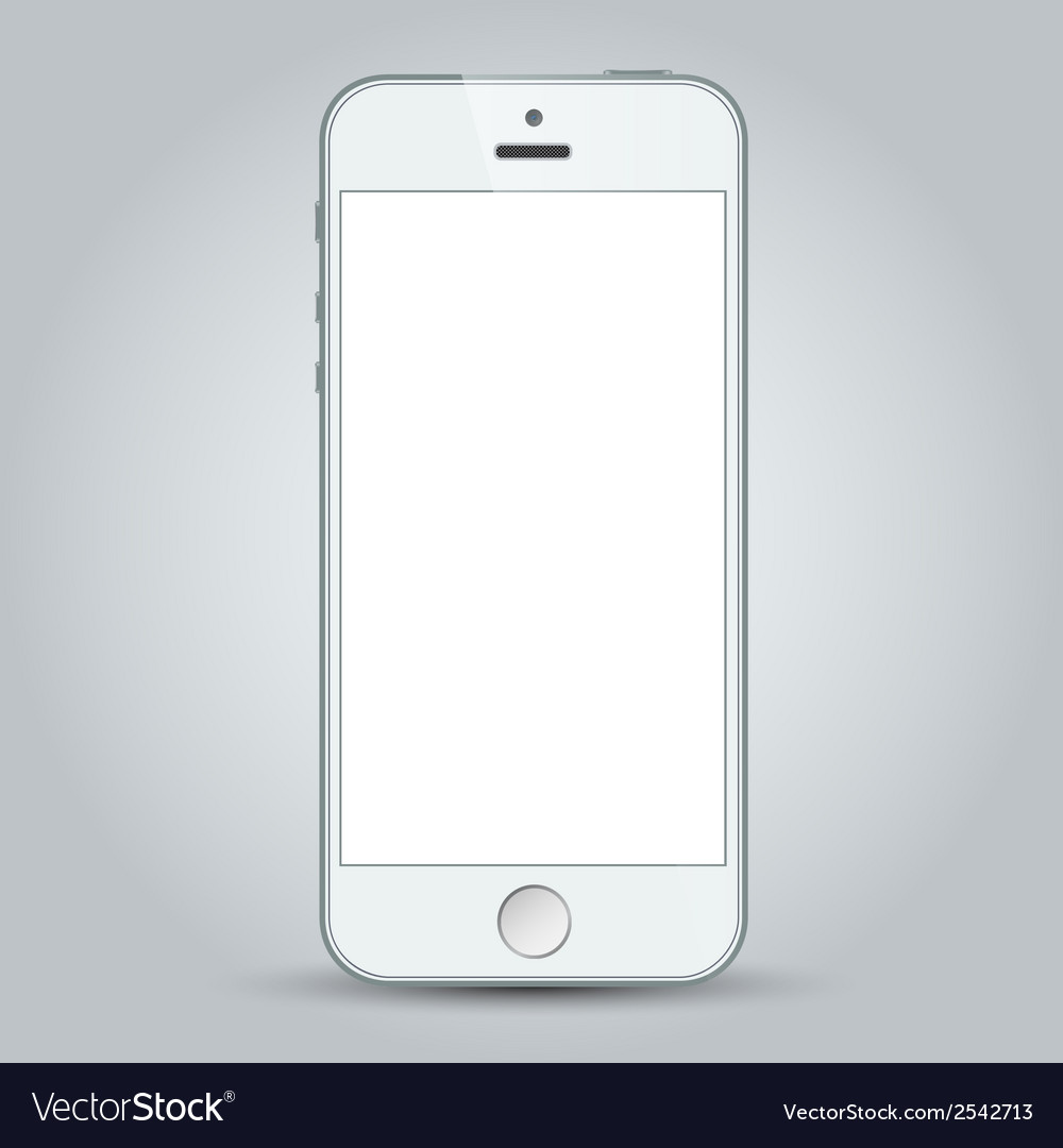 White mobile apple iphone 5s and iphone 6 plus vector image
