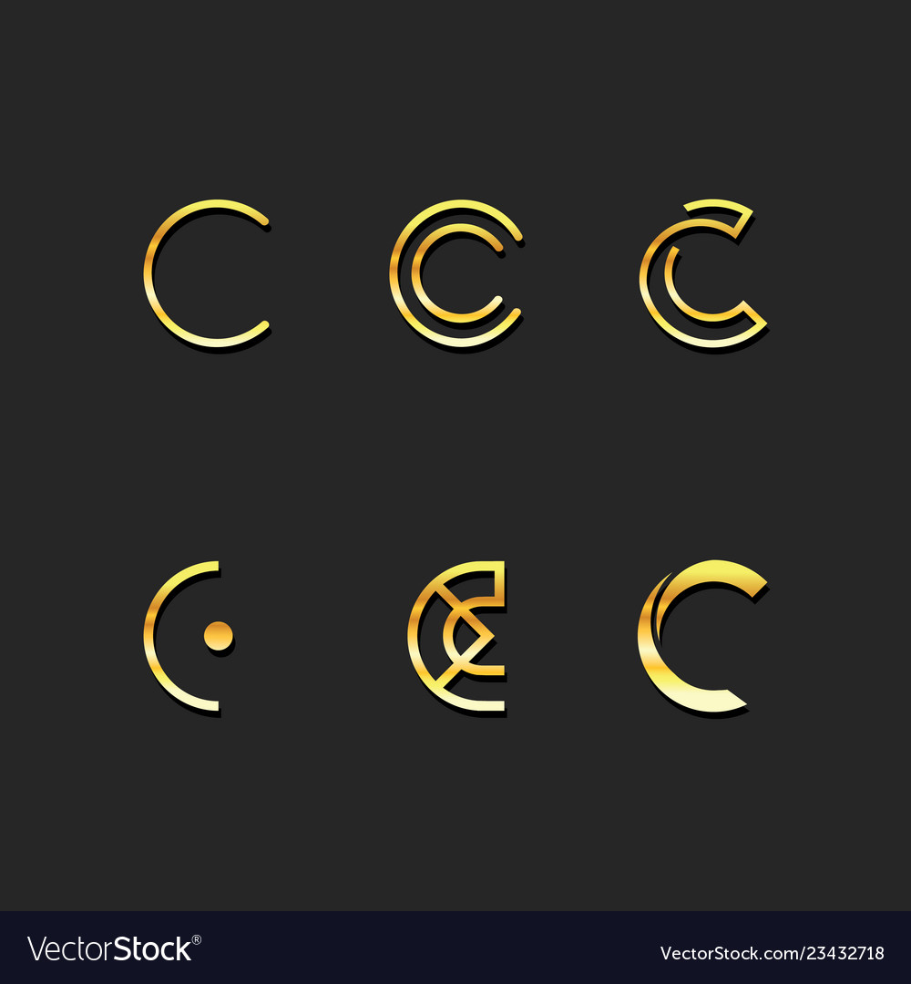 C letter logo template set