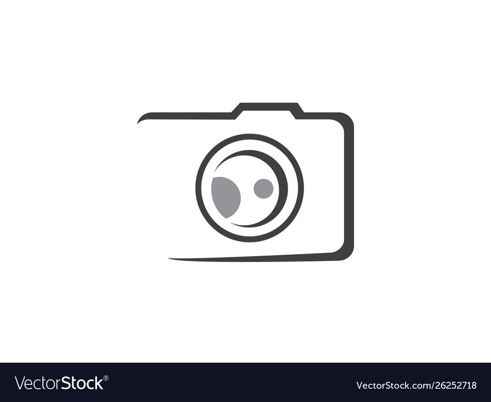 Camera photography icon for logo design
