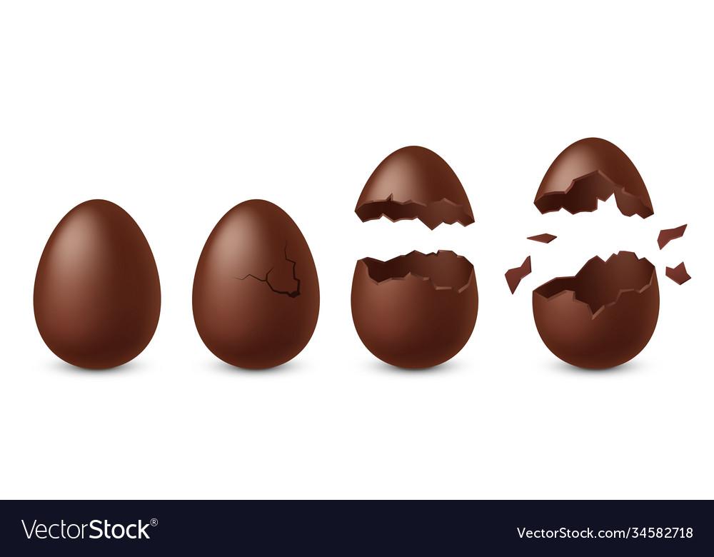 Chocolate egg dessert in shape chicken