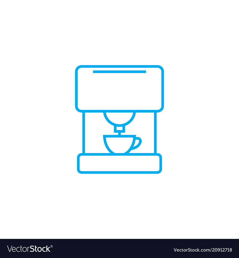 Coffee machine linear icon concept coffee machine