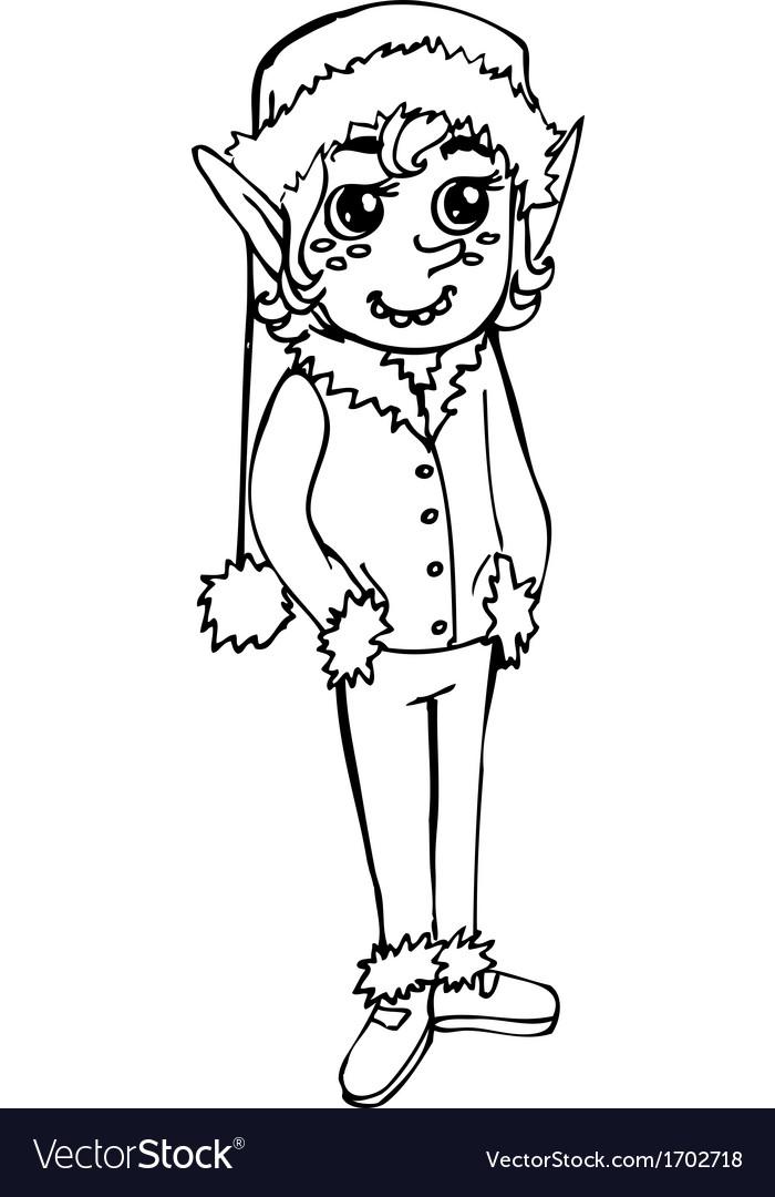 Elf doodle vector image