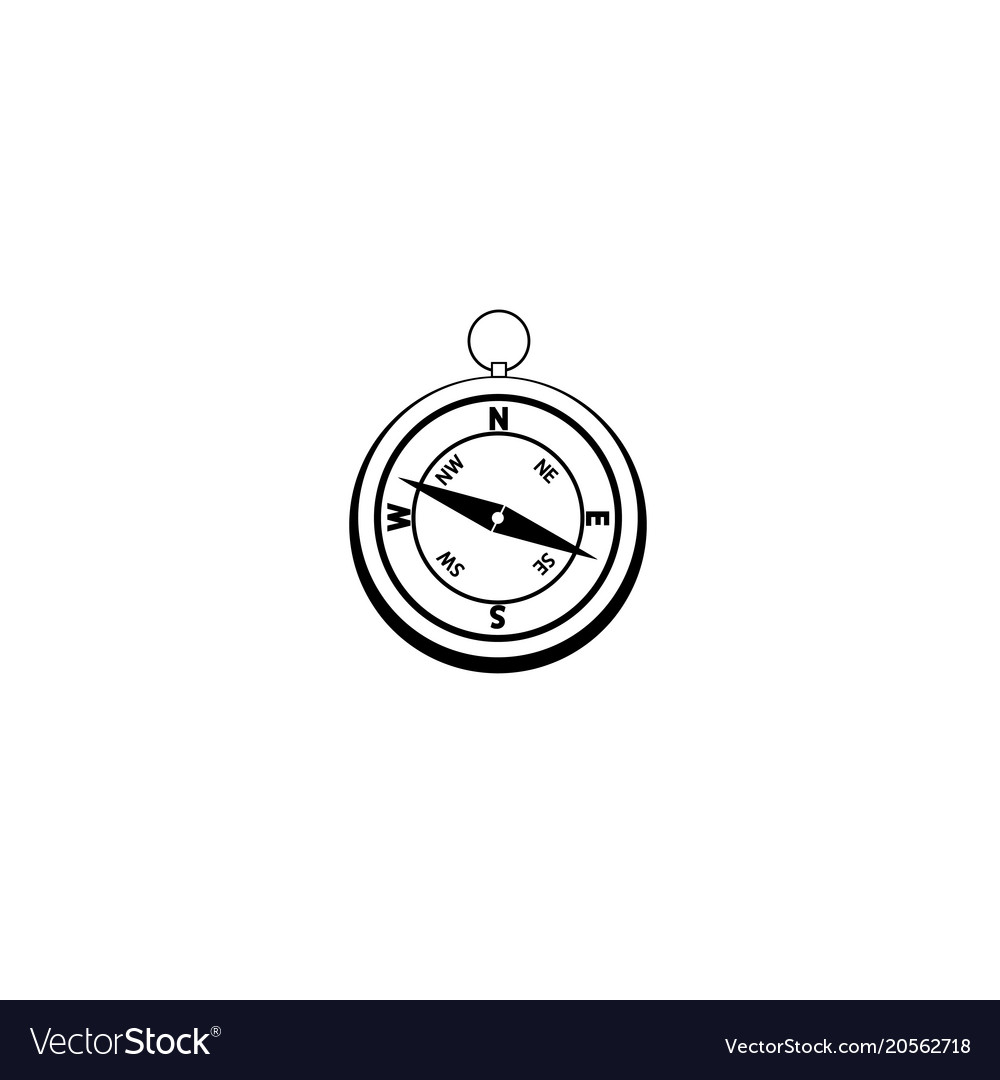 Graphic drawing compass object at the center