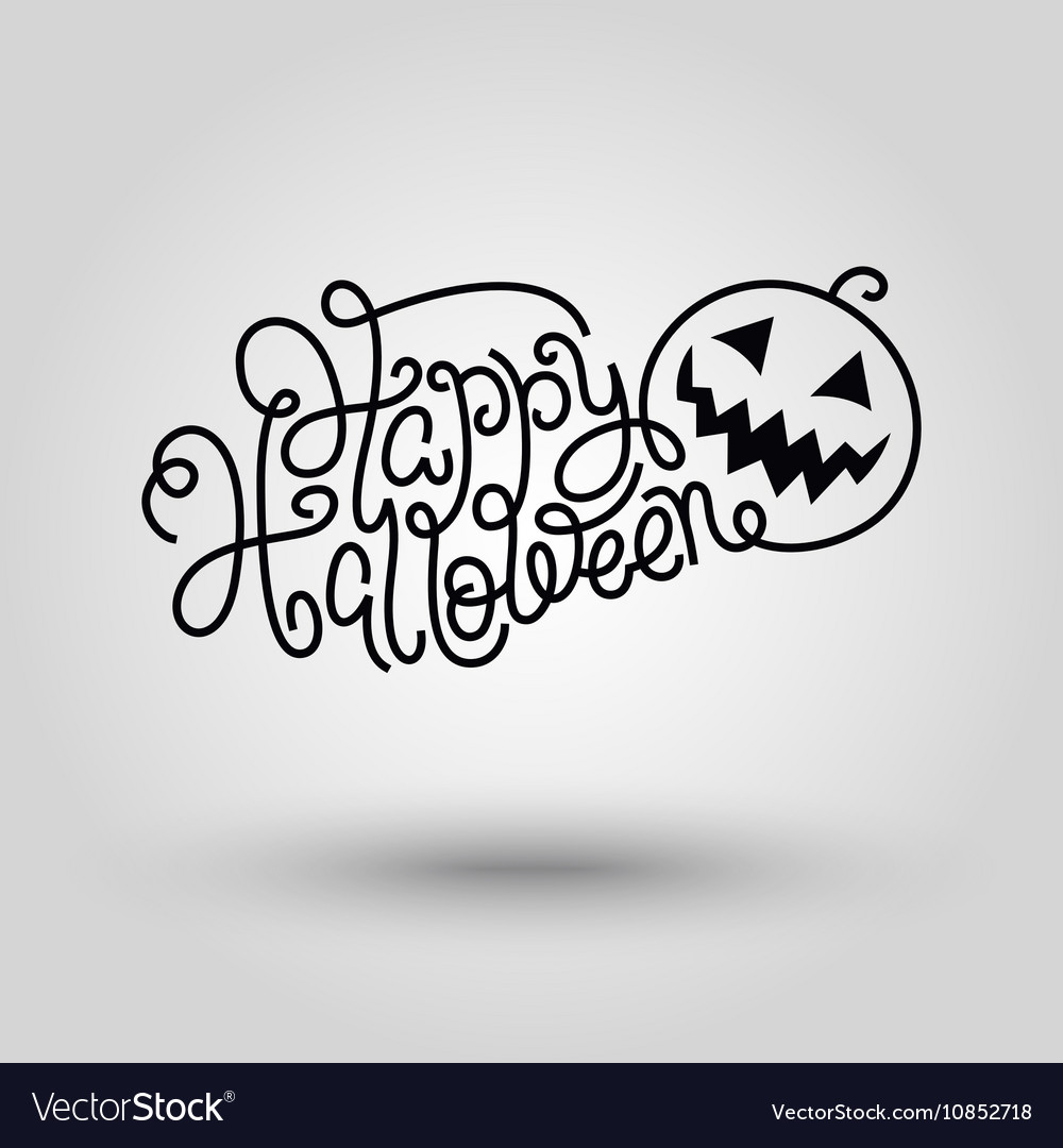 Hand Lettering Happy Halloween Royalty Free Vector Image