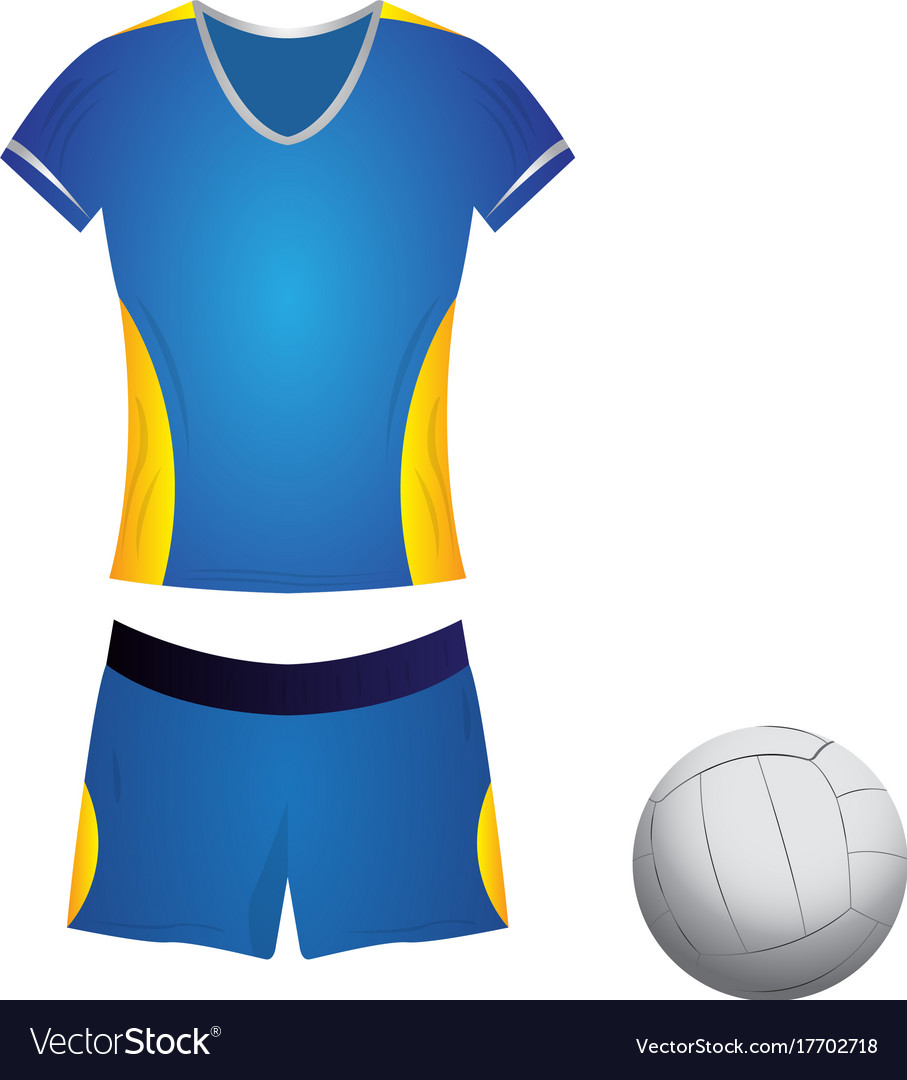 Isolated volleyball uniform