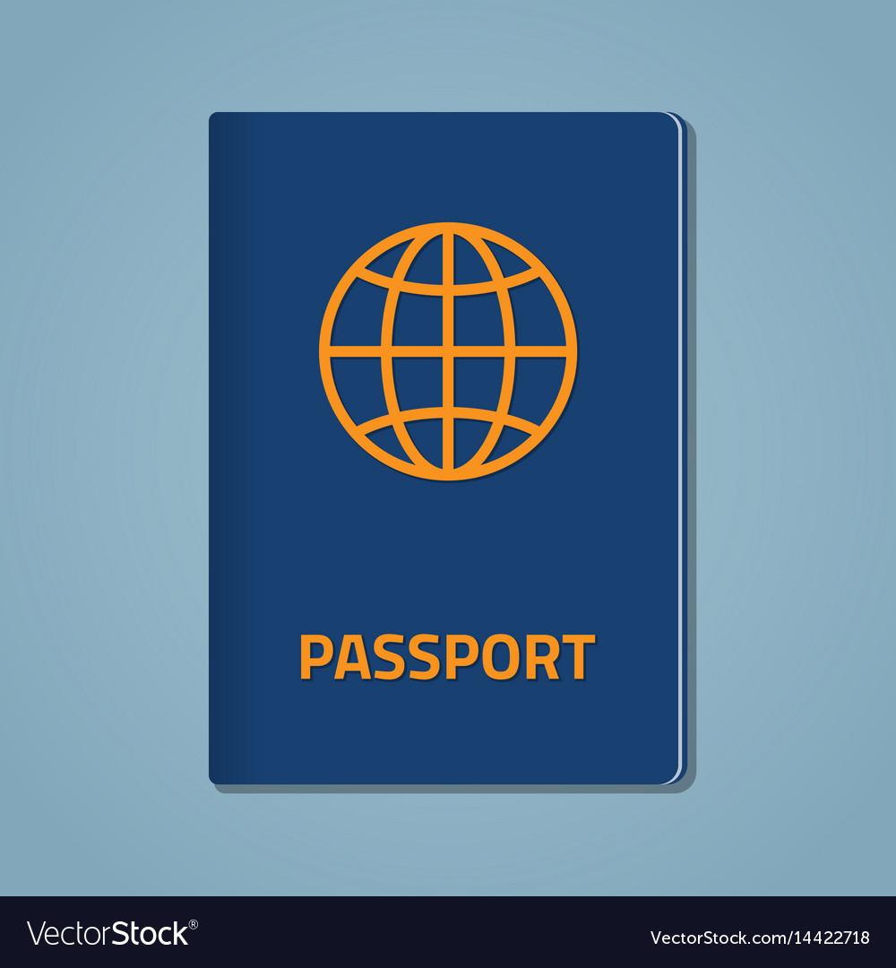 Passport closed flat