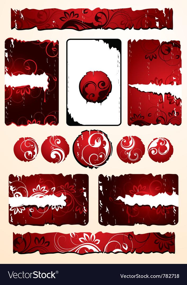 Red floral designs