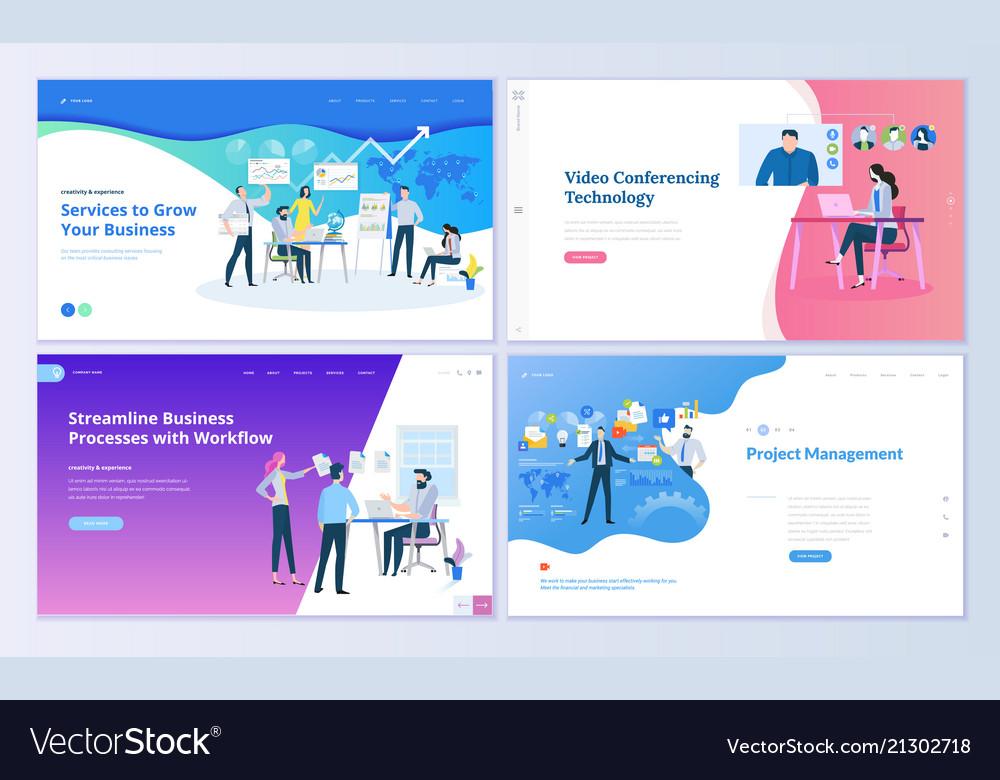 Set web page design templates
