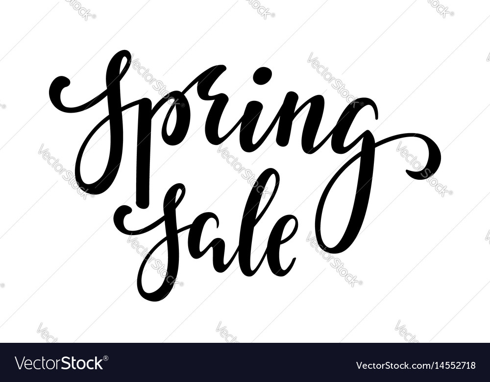 Spring sale hand drawn calligraphy and brush pen