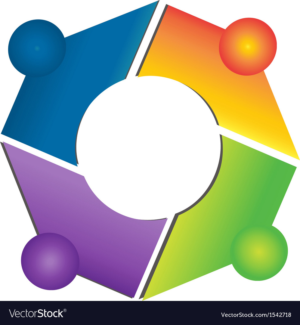 Teamwork network connections logo apps
