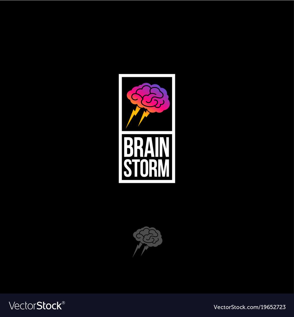 Brainstorm emblem vector image
