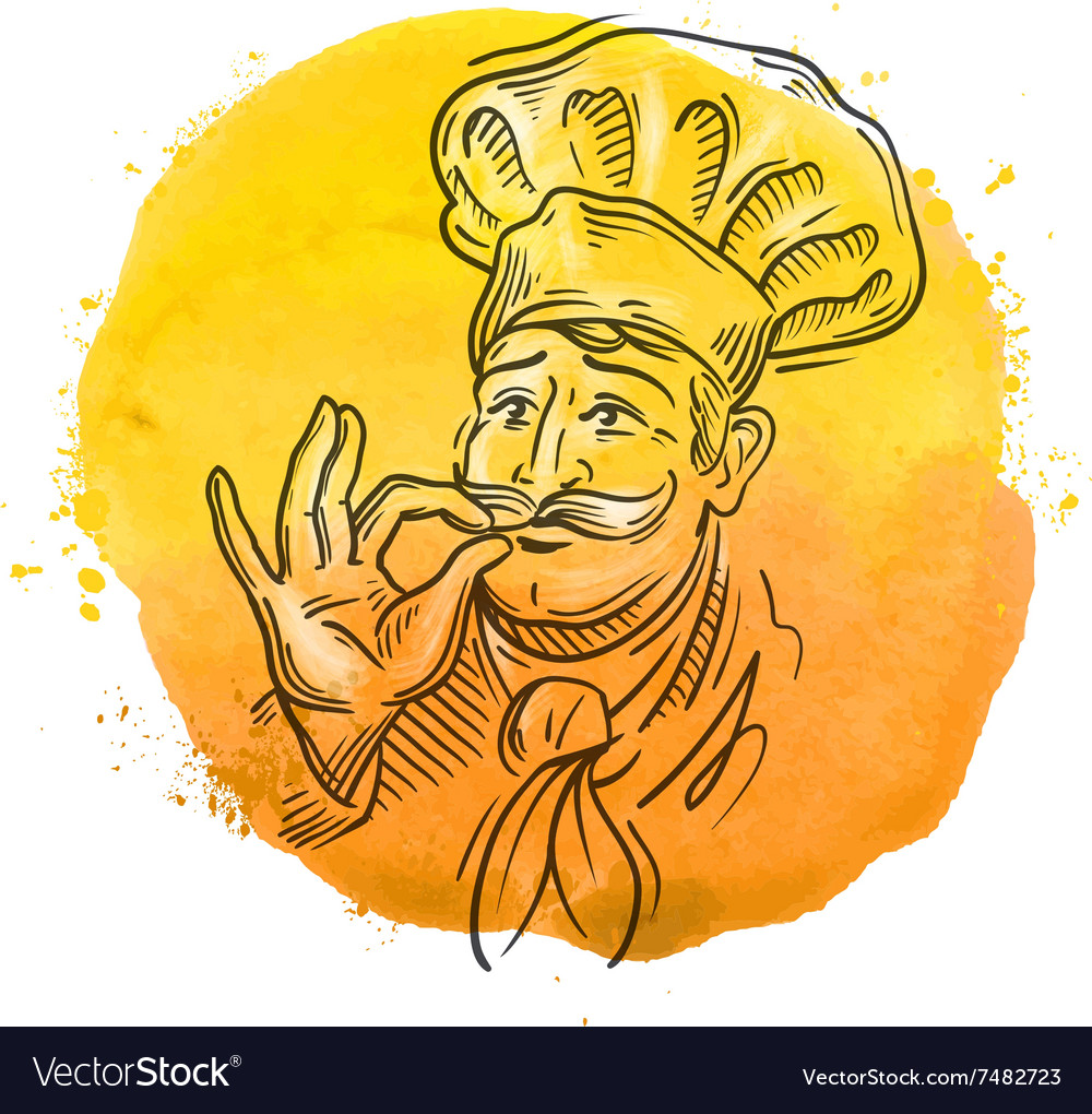 Chef logo design template cooking or