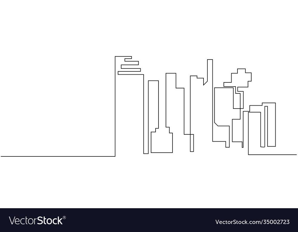 City landscapes line