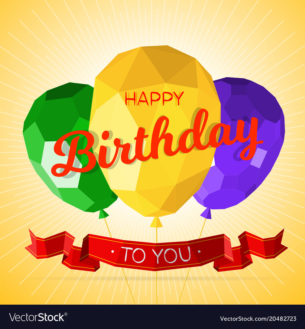 Happy birthday greeting card template royalty free vector happy birthday greeting card template vector image m4hsunfo
