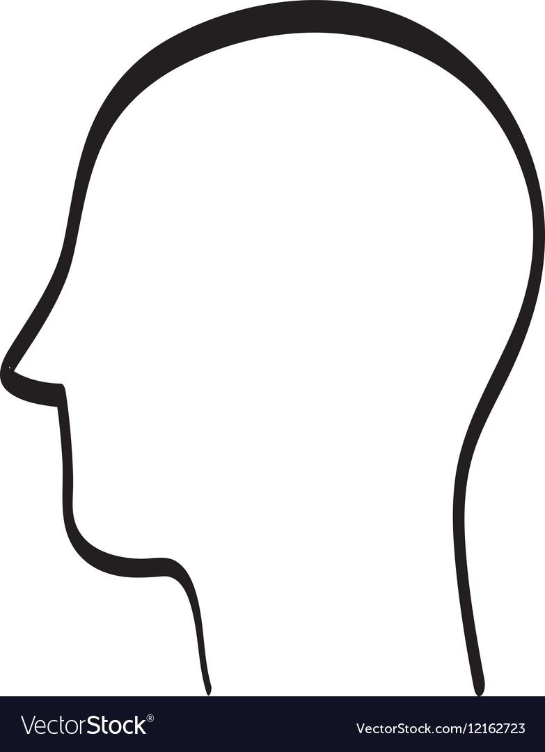 human head silhouette royalty free vector image rh vectorstock com horse head silhouette vector wolf head silhouette vector