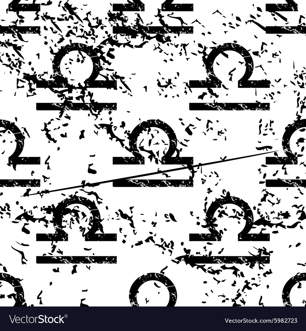 Libra pattern grunge monochrome