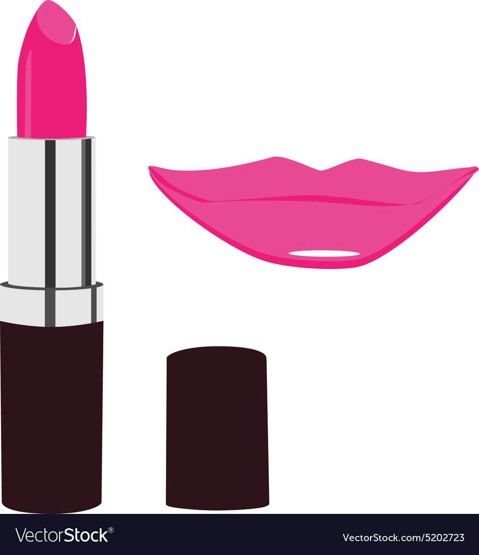 Lipstick and lips kiss