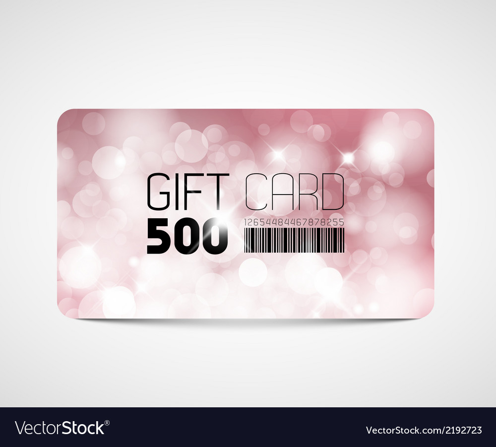 Modern pink gift card template