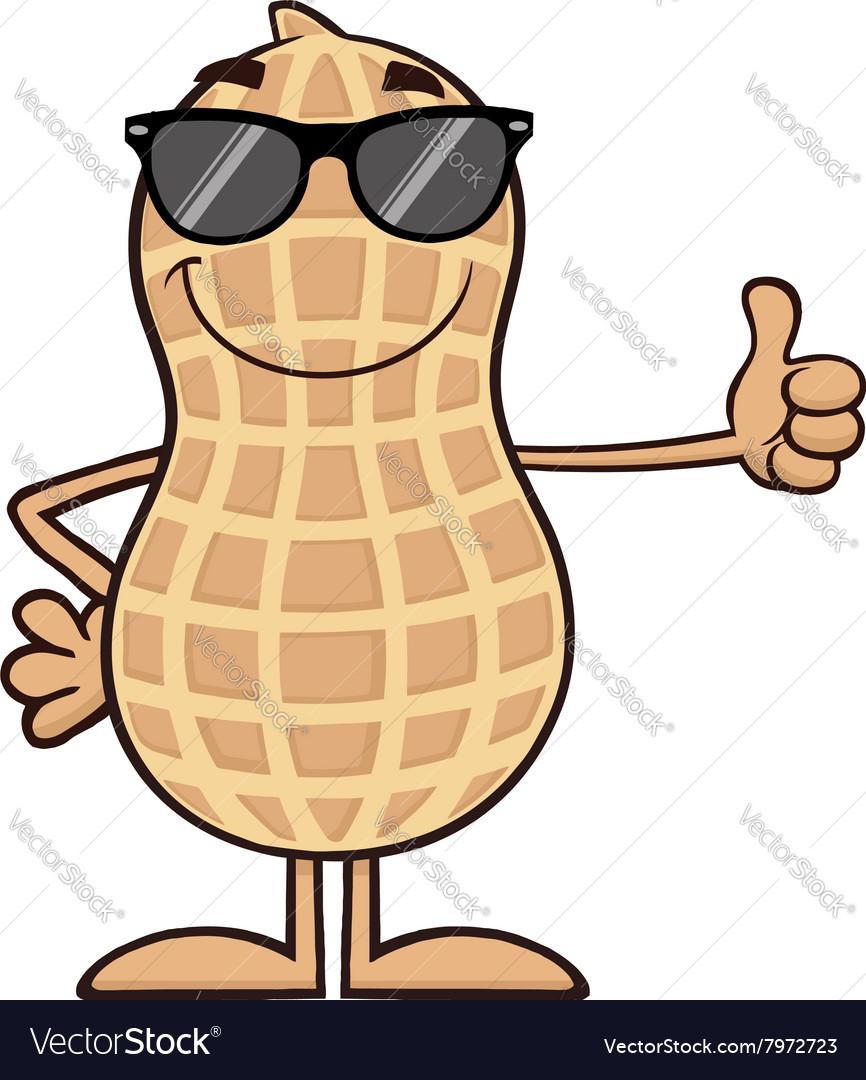 Royalty Free RF Clipart Smiling Peanut Cartoon