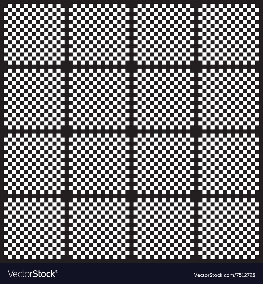 Creative black and white pattern background vector image