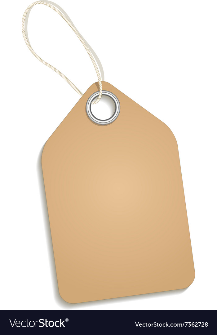 Empty cardboard tag vector image