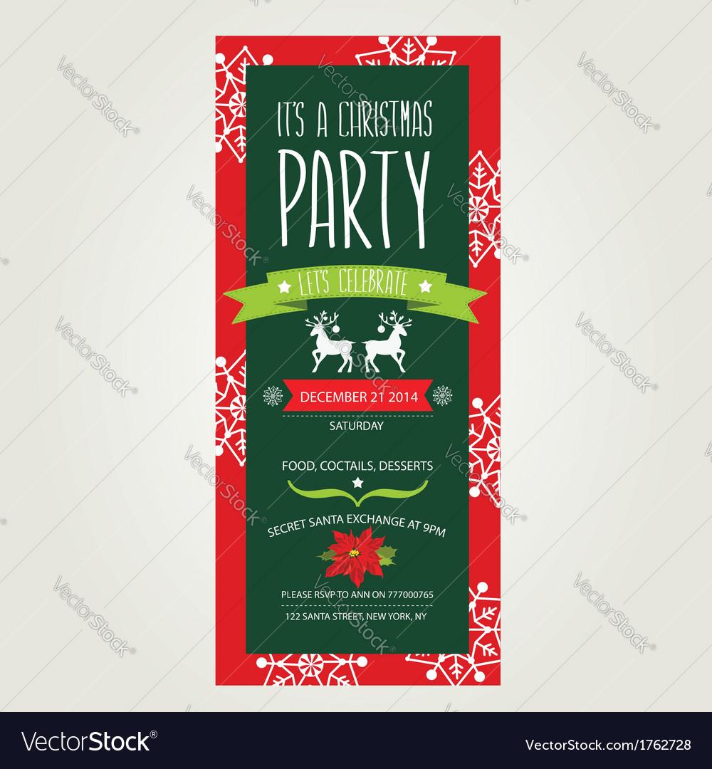 Invitation Merry ChristmasTypography