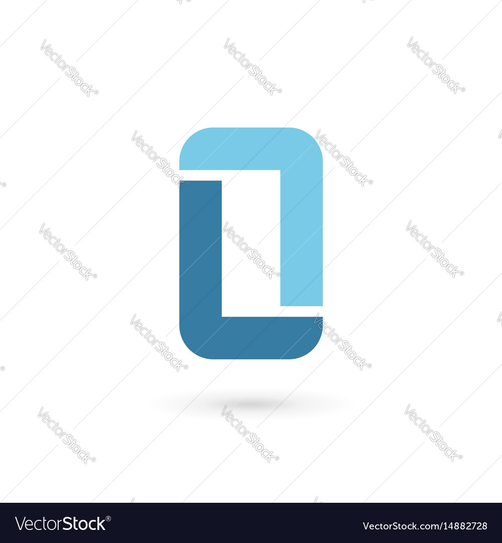 Letter l mobile phone logo icon design template Vector Image
