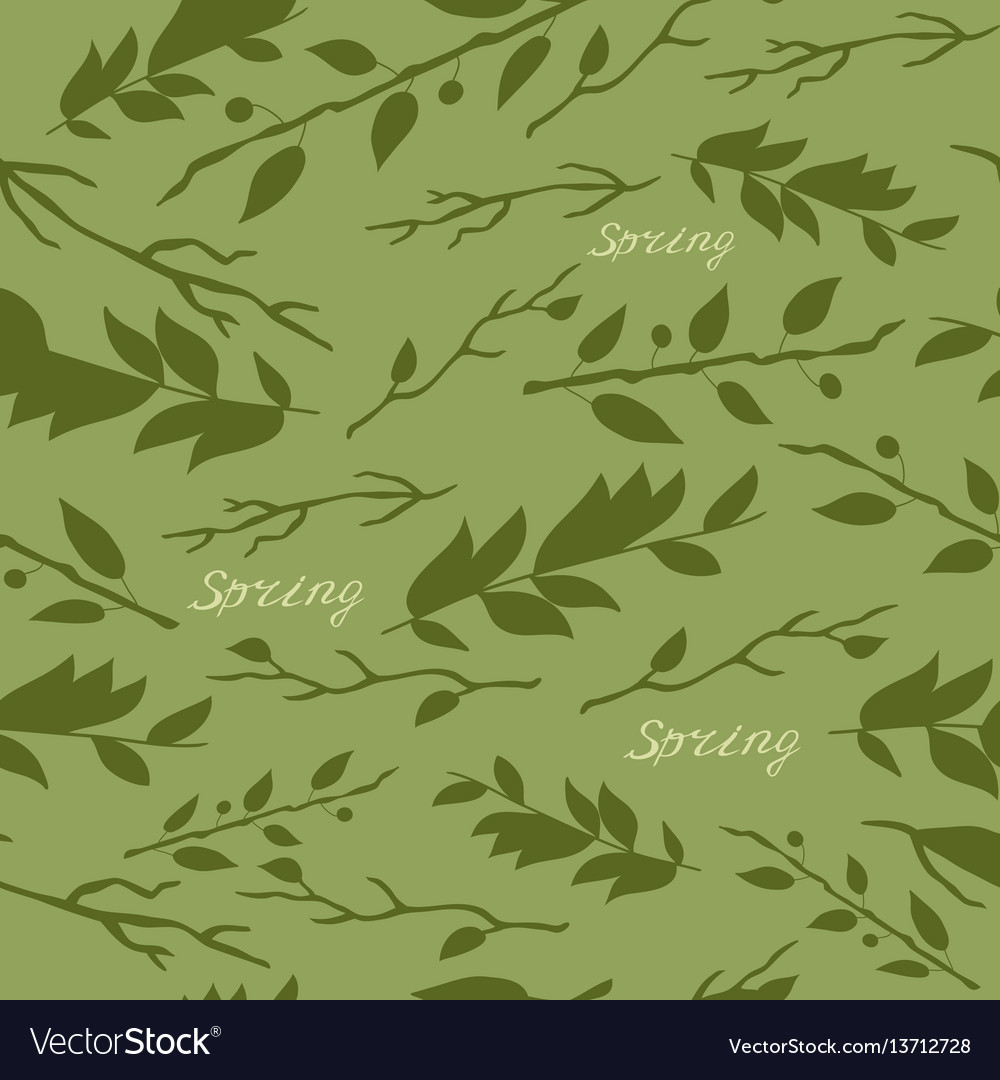 Pattern with image of leaves