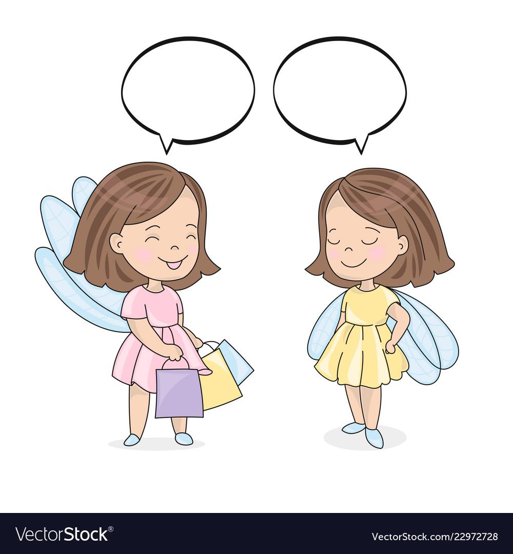Shopping talk color set