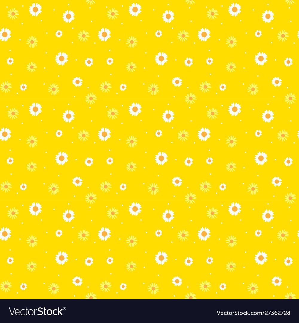Summer daisy flower abstract seamless pattern