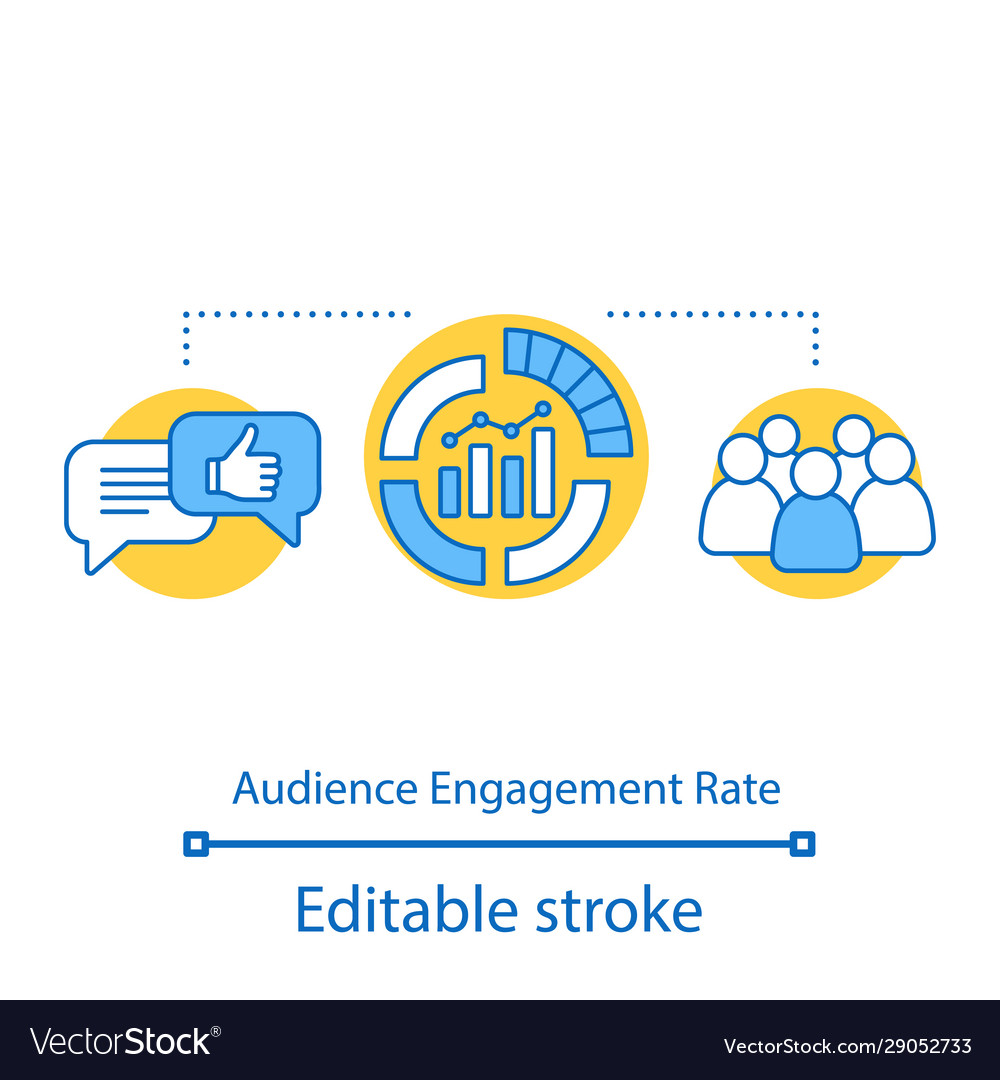 Audience engagement rate concept icon