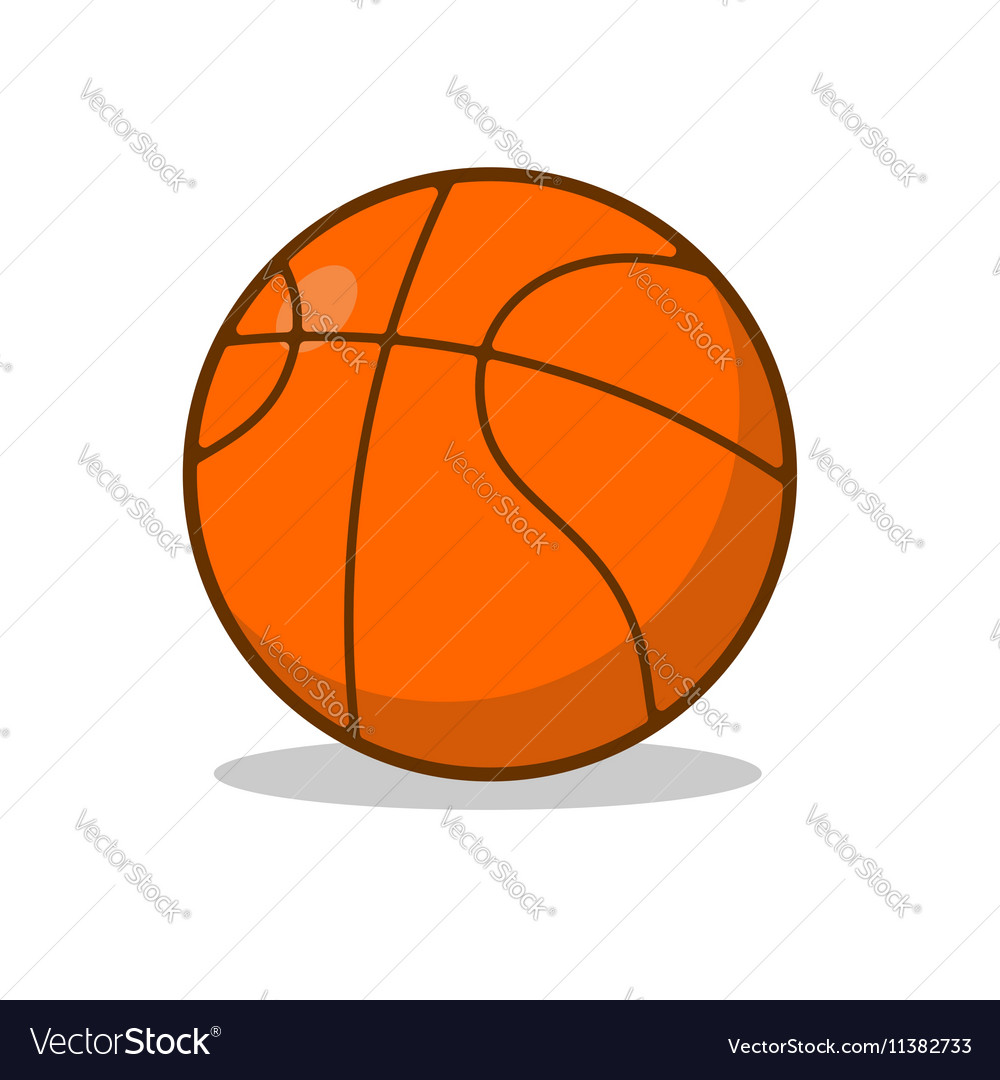 Basketball ball isolated Sports accessory for