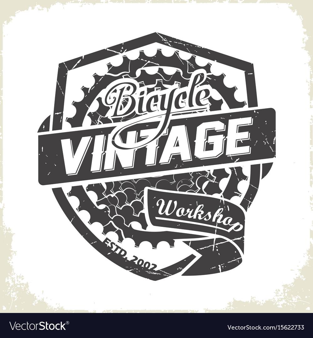 Bicycles vintage sprocket logo