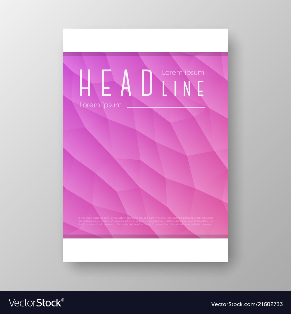Brochure design with geometric background
