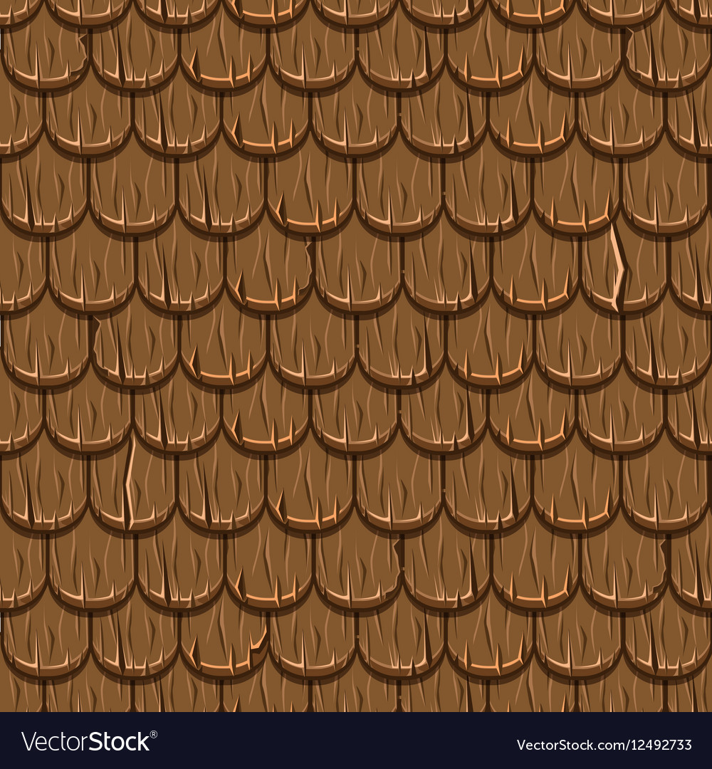 Brown wooden old roofing Roof Tiles Seamless