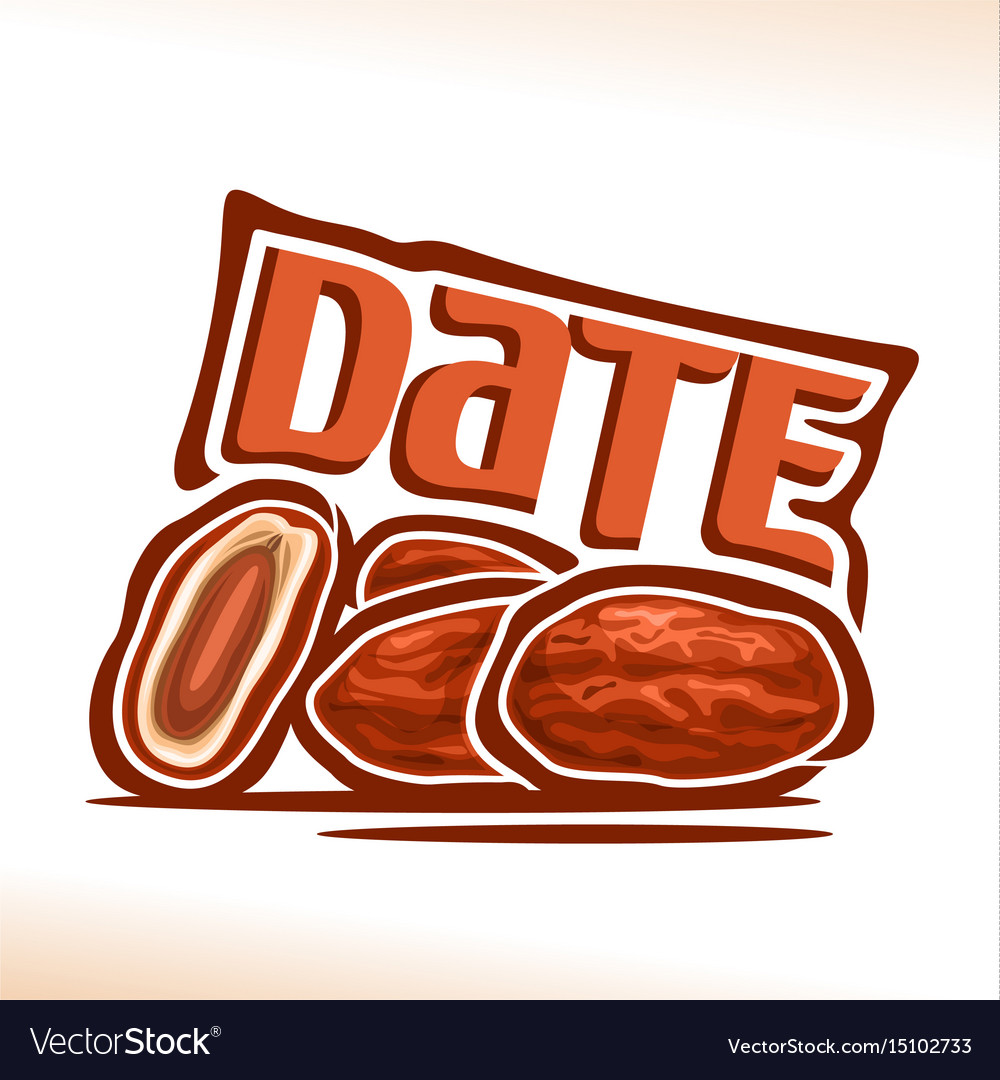Date fruit vector image