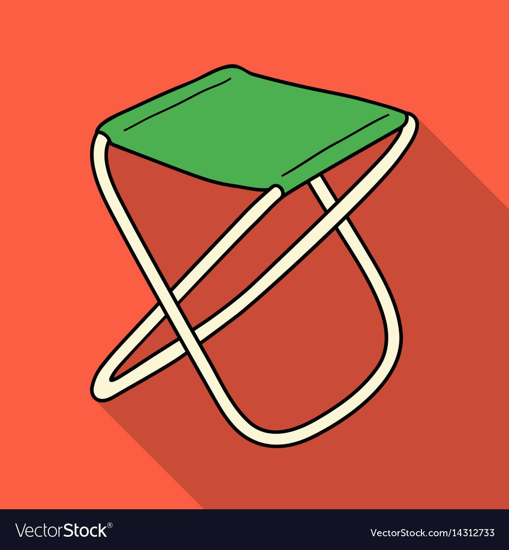 Awe Inspiring Folding Stool Icon In Flat Style Isolated On White Evergreenethics Interior Chair Design Evergreenethicsorg