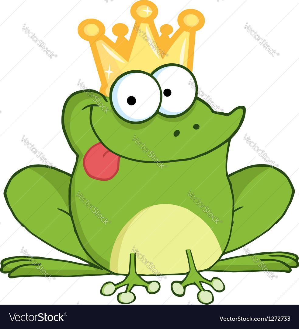 frog prince cartoon character royalty free vector image rh vectorstock com Tree Frog Vector Vector The Crocodile