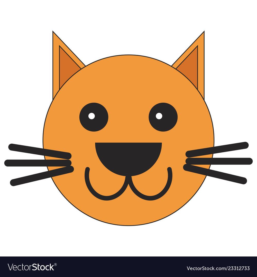 Head of a cat in cartoon style