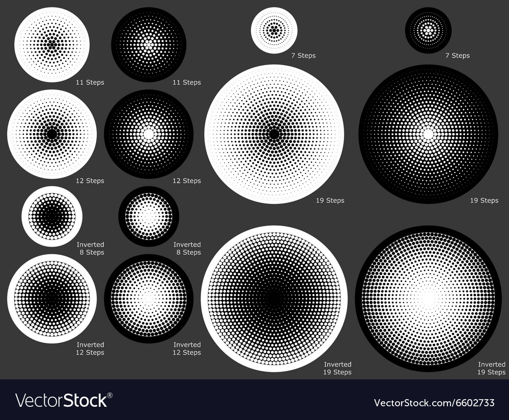 Solid and dotted radial gradient backgrounds