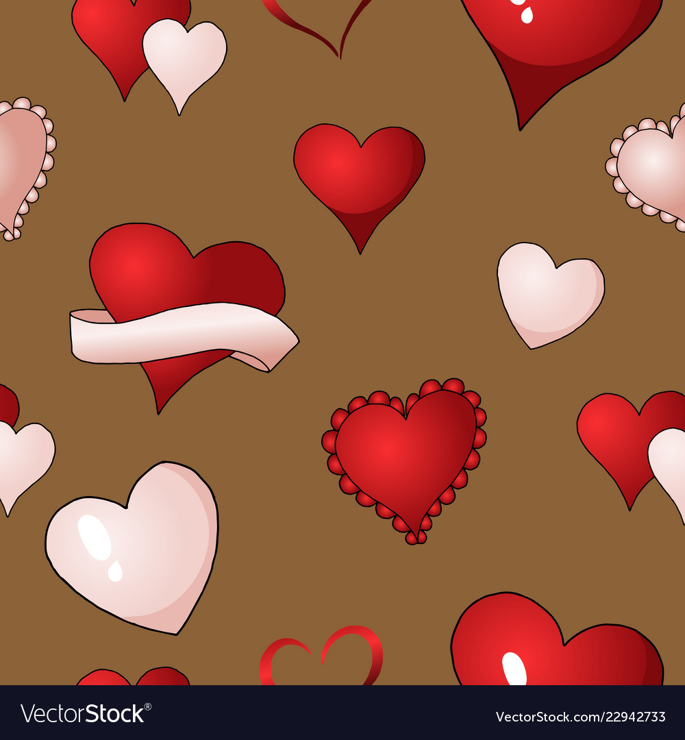 Valentines hearts seamless pattern