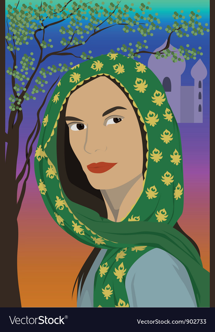 Woman in scarf