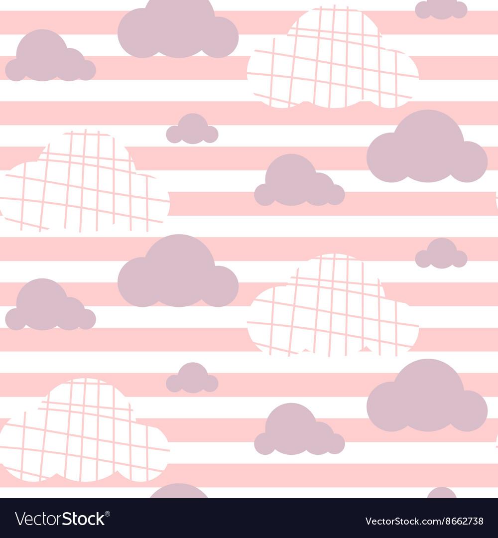 Baby girl seamless pattern Light pink fun