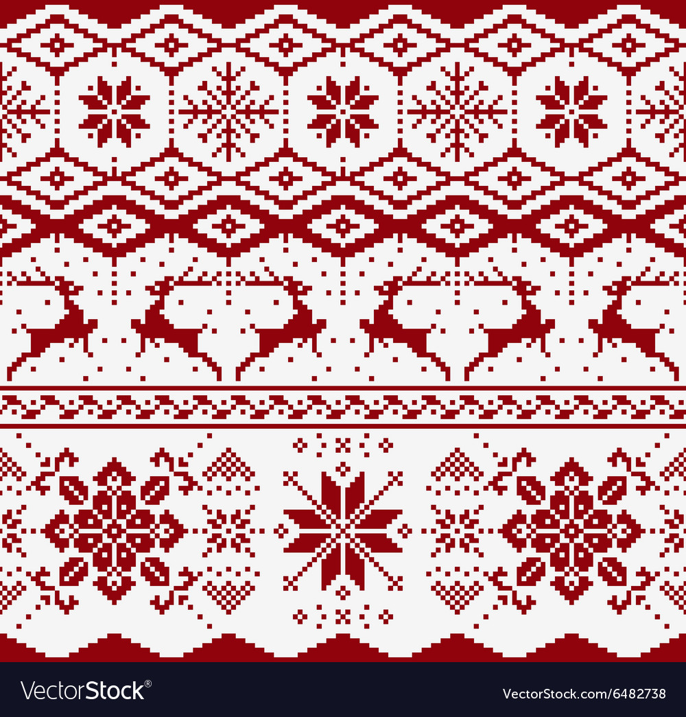 Christmas knitted seamless pattern
