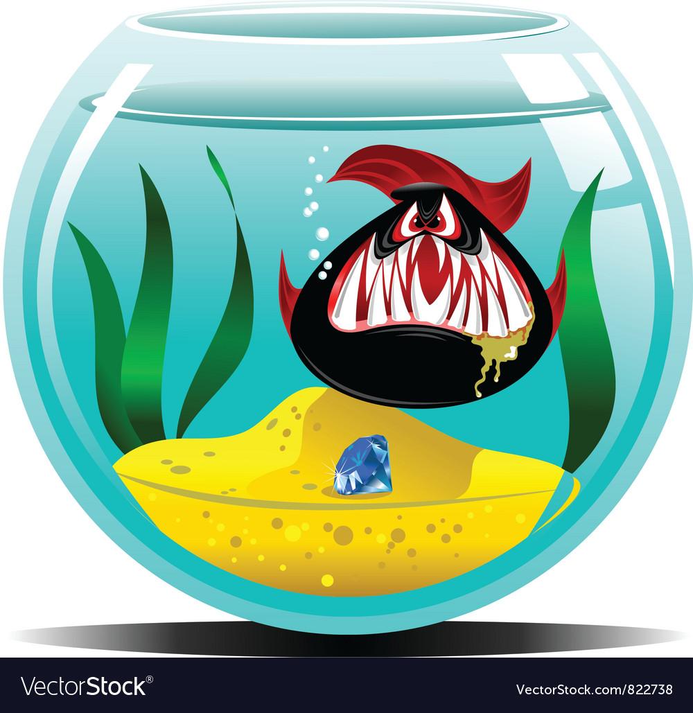 Diamond in the aquarium