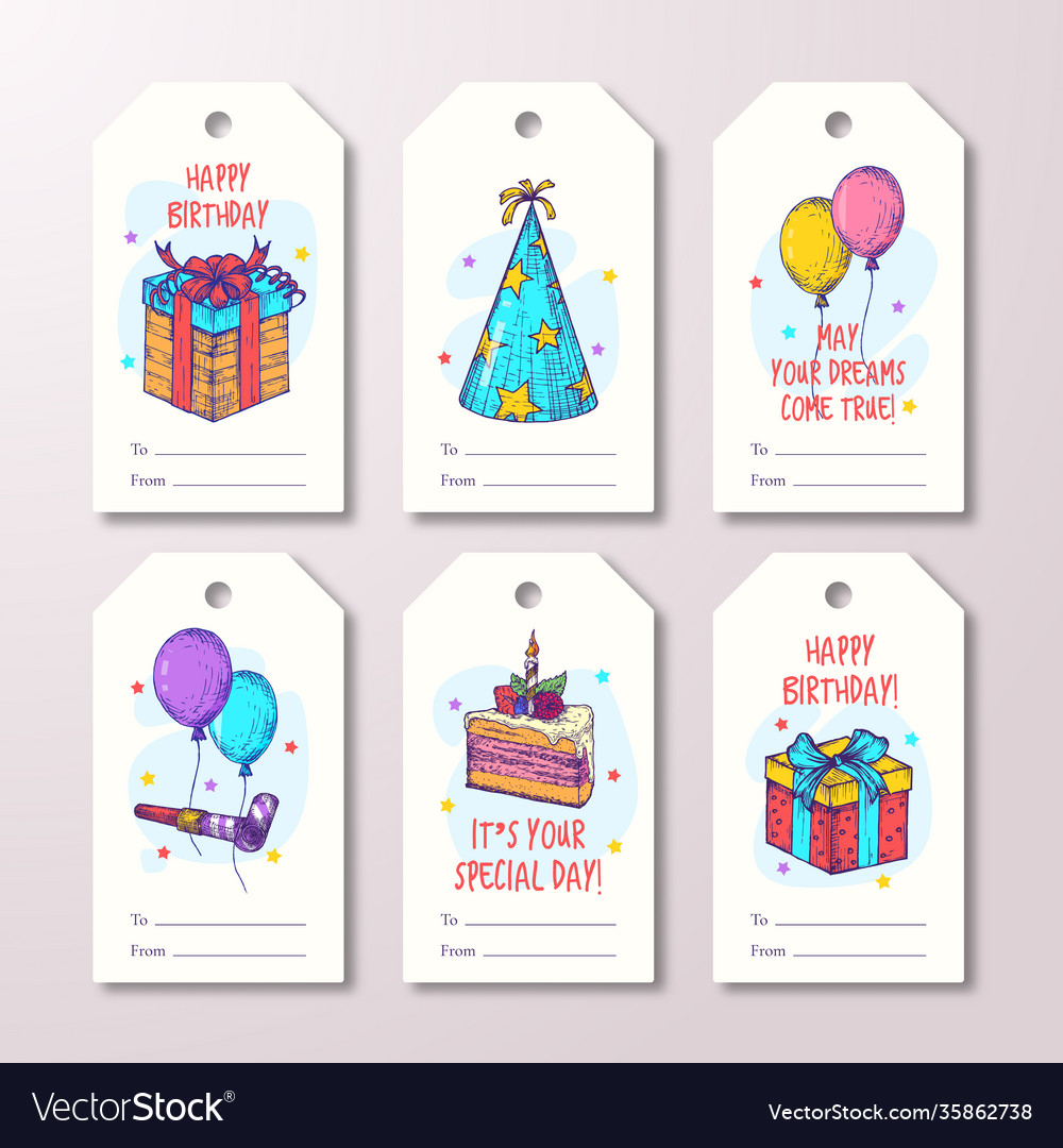 Happy birthday greeting cards or ready-to-use gift